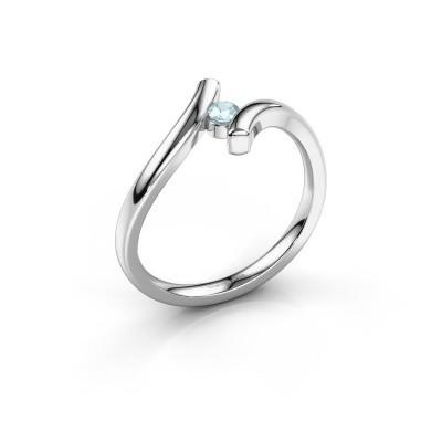 Foto van Ring Amy 925 zilver aquamarijn 3 mm