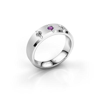 Foto van Heren ring Remco 925 zilver amethist 2.7 mm
