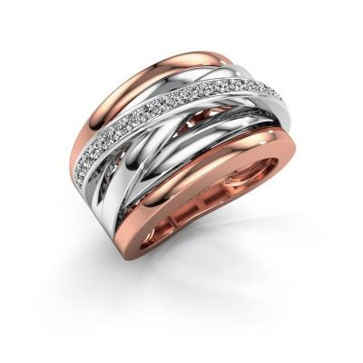 Foto van Ring Clair 1 585 rosé goud diamant 0.315 crt