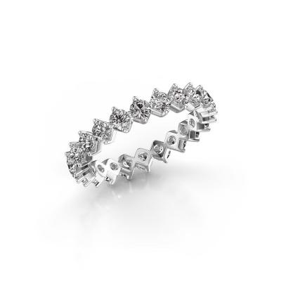 Foto van Aanschuifring Janie 2.7mm 585 witgoud diamant 1.76 crt