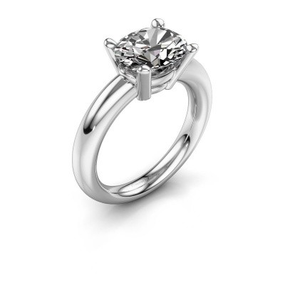 Ring Janiece 925 silver zirconia 10x8 mm