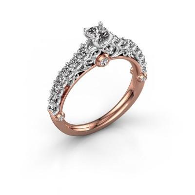 Verlovingsring Shaunda 585 rosé goud diamant 0.75 crt