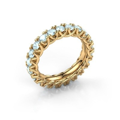Foto van Ring Fenna 375 goud aquamarijn 3 mm