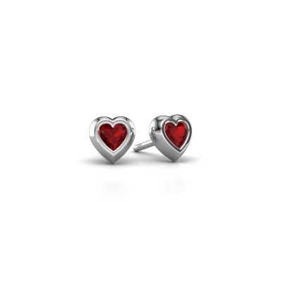 Picture of Stud earrings Charlotte 375 white gold ruby 4 mm