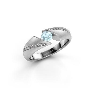 Verlobungsring Hojalien 2 925 Silber Aquamarin 4.2 mm