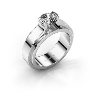 Foto van Verlovingsring Jacinda 950 platina diamant 1.00 crt