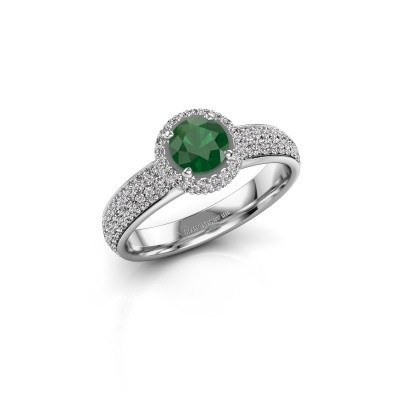 Engagement ring Mildred 585 white gold emerald 5 mm