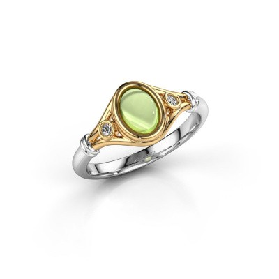 Ring Scarlett 585 goud peridoot 7x5 mm