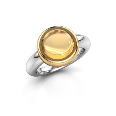 Bague Jenae 585 or blanc citrine 10 mm