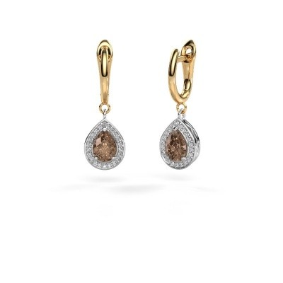Picture of Drop earrings Ginger 1 585 white gold brown diamond 1.52 crt