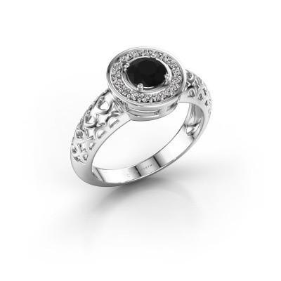 Foto van Ring Katalina 925 zilver zwarte diamant 0.72 crt