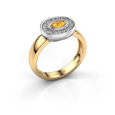 Ring Azra 585 gold citrin 5x3 mm