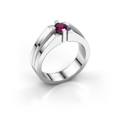 Foto van Heren ring Kiro 925 zilver rhodoliet 5 mm