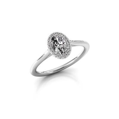 Bild von Verlobungsring Seline ovl 1 585 Weißgold Diamant 0.59 crt
