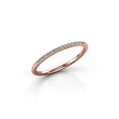 Foto van Aanschuifring SR10B2H 375 rosé goud diamant 0.08 crt