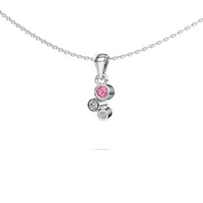 Bild von Anhänger Tessa 925 Silber Pink Saphir 2.5 mm