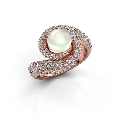 Foto van Ring Klasina 375 rosé goud witte parel 7 mm