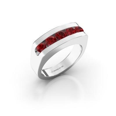 Foto van Heren ring Richard 925 zilver robijn 4 mm