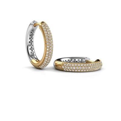Picture of Hoop earrings Tristan B 19 mm 585 gold zirconia 1 mm