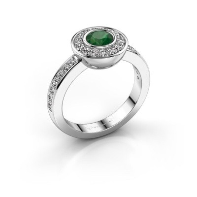 Ring Ivy 585 white gold emerald 5 mm