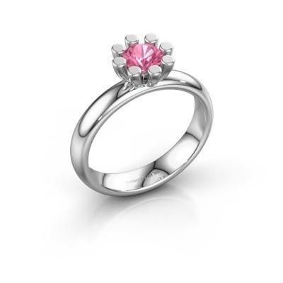 Stapelring Carola 1 950 platina roze saffier 5 mm