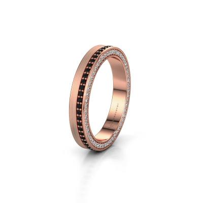 Wedding ring WH2214L15BM 375 rose gold black diamond 0.605 crt ±0.14x0.08 in