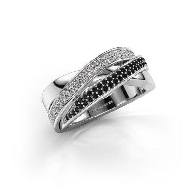 Foto van Ring Myra 585 witgoud zwarte diamant 0.549 crt
