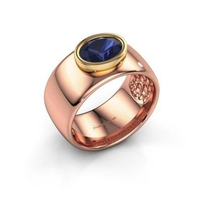 Ring Anouschka 585 rose gold sapphire 8x6 mm