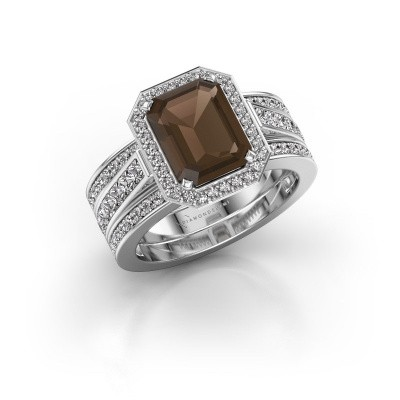 Ring Dodie 3 925 zilver rookkwarts 9x7 mm