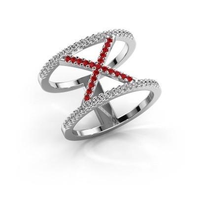 Ring Sharri 2 950 platinum ruby 1.1 mm