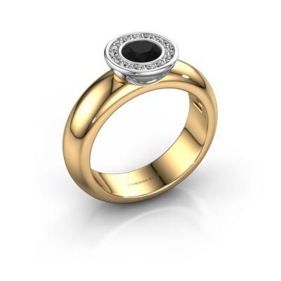 Bild von Steckring Anna 585 Gold Schwarz Diamant 0.735 crt