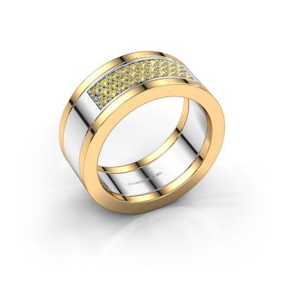 Ring Marita 3 585 witgoud gele saffier 1.3 mm