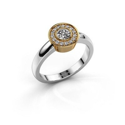 Ring Adriana 1 585 witgoud zirkonia 4 mm