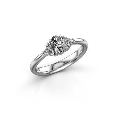 Foto van Verlovingsring Aleida OVL 1 950 platina diamant 0.63 crt