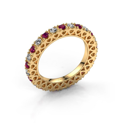 Stackable ring Hailey 585 gold rhodolite 2.2 mm
