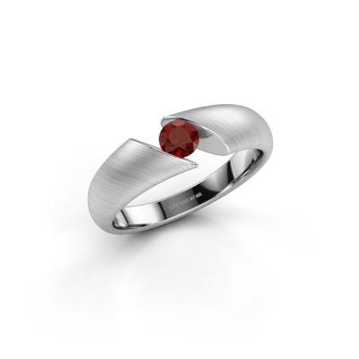 Picture of Engagement ring Hojalien 1 925 silver garnet 4 mm