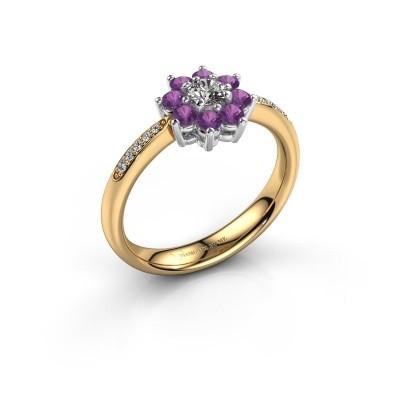 Verlovingsring Camille 2 585 goud amethist 3.4 mm