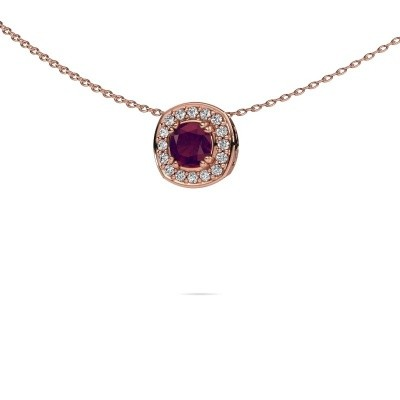 Ketting Carolina 375 rosé goud rhodoliet 5 mm