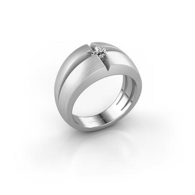 Foto van Heren ring Rens 925 zilver zirkonia 3.5 mm