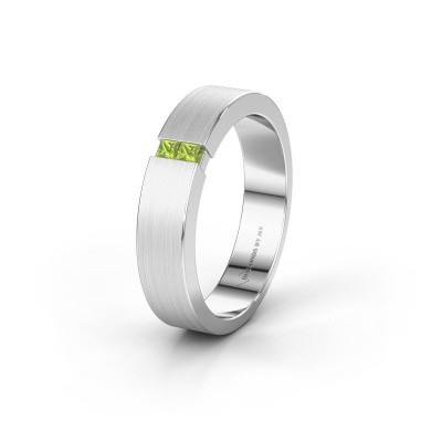 Wedding ring WH2136M15E 925 silver peridot ±5x2.4 mm