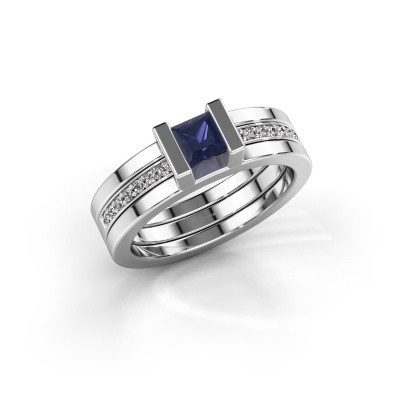 Photo de Bague Desire 925 argent saphir 4 mm