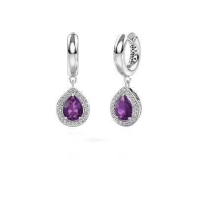 Picture of Drop earrings Barbar 1 925 silver amethyst 8x6 mm