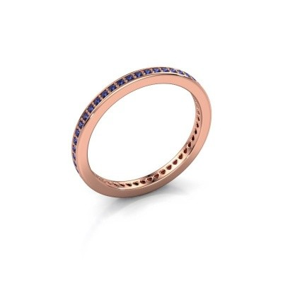 Aanschuifring Elvire 1 375 rosé goud saffier 1.1 mm