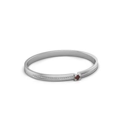 Bracelet Myrthe 585 white gold garnet 4 mm