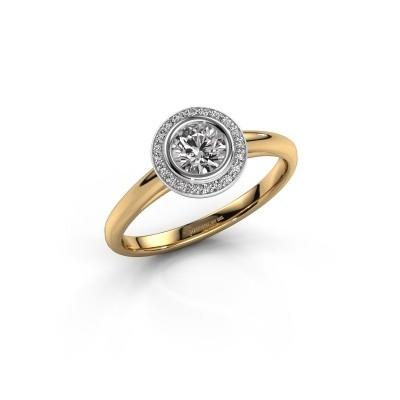 Foto van Promise ring Noud 1 RND 585 goud lab-grown diamant 0.45 crt