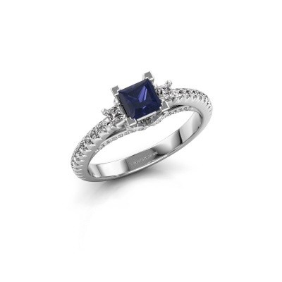 Picture of Engagement ring Valentina 585 white gold sapphire 4.25 mm