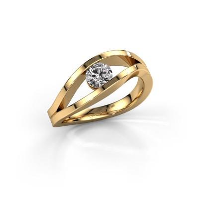 Engagement ring Sigrid 1 585 gold diamond 0.40 crt