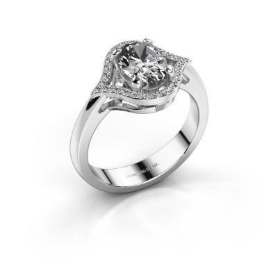 Ring Mendy 925 zilver zirkonia 8x6 mm