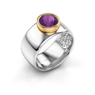 Ring Klarinda 585 witgoud amethist 7 mm