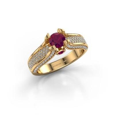 Foto van Verlovingsring Jeanne 2 750 goud rhodoliet 5 mm